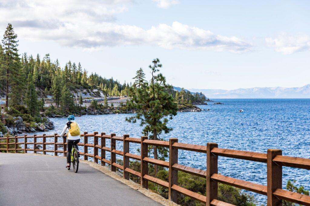Alternative travel bicycle lake tahoe