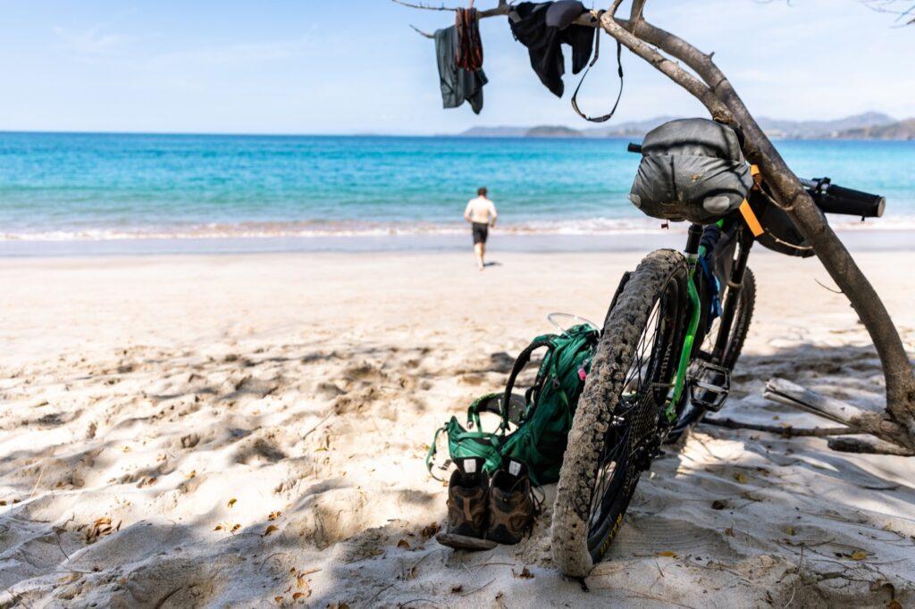 Costa Rica Bikepacking Beach Swimming