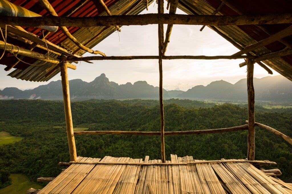 Nong Khiaw Hiking Viewpoint in Laos